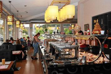 Restaurant mit Selbstbedienungs-Buffet