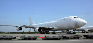 CAL 747-400 freighters at Liege Airport  -  picture: hs