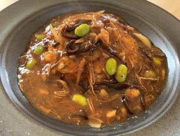 餡かけ黒炒飯、餡かけ黒チャーハン、こだわり、安心安全、激辛、中華料理