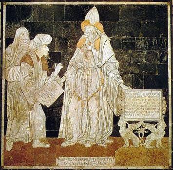 Hermes Trismegistus, Fußbodenmosaik im Dom von Siena