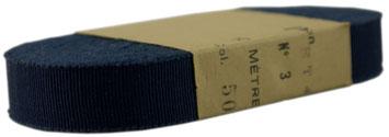 vintage Ripsband, 3er, kornblumenblau, BW (nur solange der Vorrat reicht)