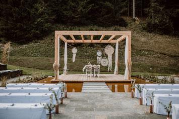 Günter Standl & Aileen Melucci, der Hochzeitspavillon im LA SOA