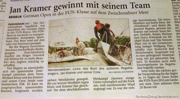 Quelle: Nordwest-Zeitung Sport 30.08.2013