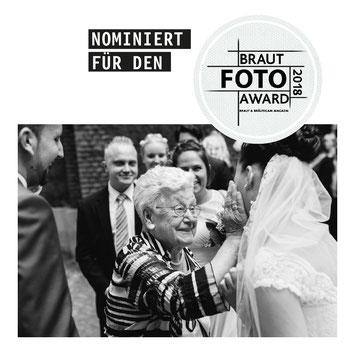 Braut Foto Award 2018 Braut und Bräutigam Magazin Publikumspreis Gewinner Familie und Freunde Hochzeitsfotograf Ruhrgebiet NRW