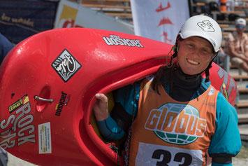 Überglücklich nach dem Finale der Damen: Anne Hübner - zweiter Platz bei der Europameisterschaft! Foto: Birgit Stiebing