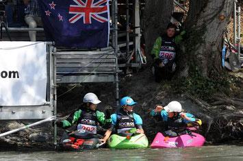 Jipii, der Einzug ins Finale der Top 5 ist gesichert! Foto: ICF kayak freestyle sort