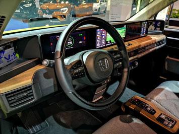 Cockpit des Honda e - ein Schlaraffenland für Display-Junkies