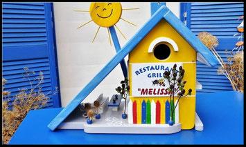 Mooi vogelhuis, vogelhuisje Melissa, handgemaakt nestkastje, een leuk vogelhuisje