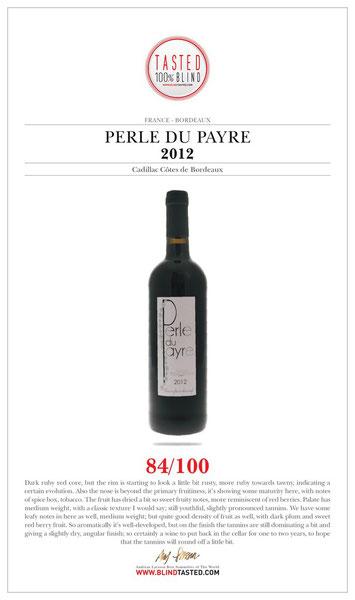 Perle du Payre - Slection Cadillac Cote de Bordeauxpar Andreas Larsson, Sommelier
