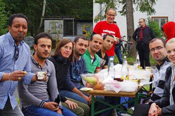 Erntedankfest 2015: Gießener Kirchen und Flüchtlinge feiern gemeinsam! // Foto: Hartmann