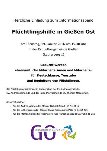 Einladung zur 2. Informations-Veranstaltung am 19.1.2016