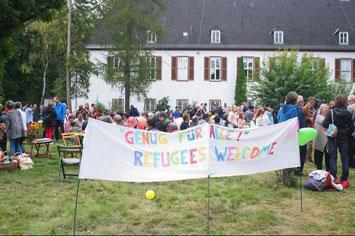 Geflüchtete willkommen! // Foto: Hartmann