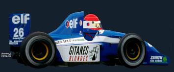Emmanuel Collard by Muneta & Cerracín - Ligier Gitanes Blondes - Ligier JS37 Renault V10 -1992