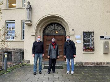 vlnr: Hans-Peter Lorscheider, MdL Helga Lerch, Christian Ahrens