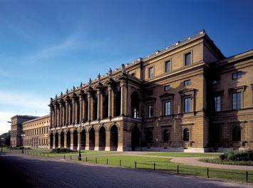 Die Residenz in München mit dem Festsaalbau (Foto: Bayerische Schlösserverwaltung, München)