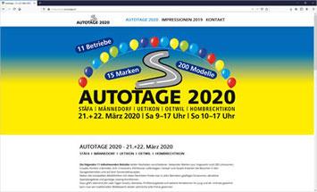 AUTOTAGE 2020 - STÄFA - MÄNNEDORF - UETIKON - OETWIL - HOMBRECHTIKON
