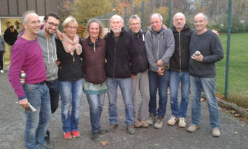 v.l. : Knut (C), Benni, Ute, Antje, Helmut , Martin, Mosche,  Erhard, Jacques