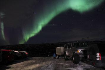 Poollicht tijdens de IJslandreis in februari 2015