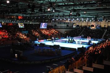 Hallenansicht der Yonex German Open in Mülheim