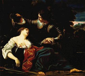 Tancrède baptise Clorinde. Sisto Balalocchio