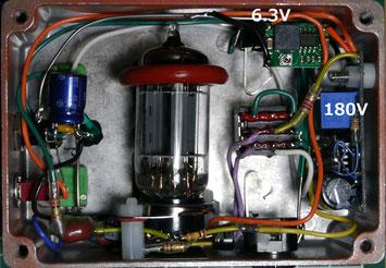 真空管オーバードライブエフェクター自作 DIY Vacuum Tube Overdrive Pedal