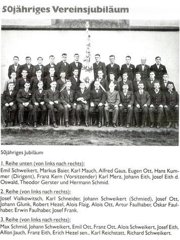 """50jähriges Vereinsjubiläum """"Frohsinn"""" Winzeln"""