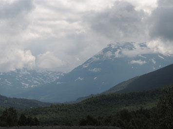 Hier noch ein letzter Blick vom Polar Park auf die umliegenden Berge