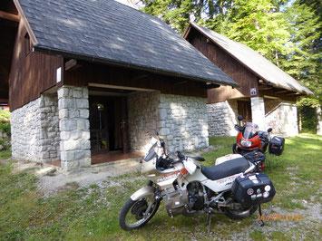 Unsere Hütte für die nächsten zwei Nächte