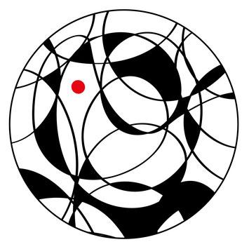 """Das Glück ist eine runde Sache. Illustration im Lyrik-Band von Ursula Konder """"Manchmal Möchte Ich"""". Erschienen bei bod."""