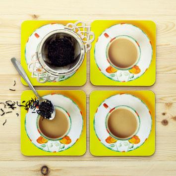 coasters tea poppies cuppa coaster top tea blogger Christmas gift