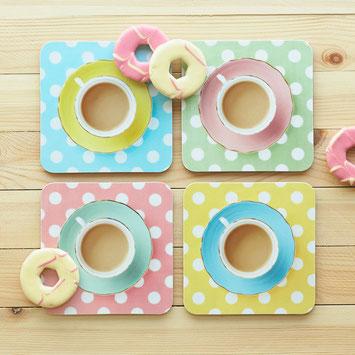 coasters delightfully dotty coaster top tea blogger Christmas gift