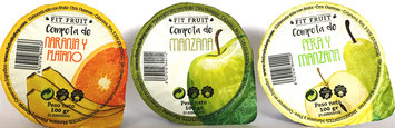 Compotas 100% naturales. Compota de naranja y plátano. Compota de manzana. Compota de pera y manzana.  Venta al por mayor Galicia. A Coruña, Pontevedra, Lugo, Ourense.