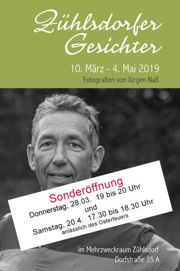Einladung Vernissage Zühlsdorfer Gesichter