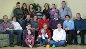 Rund 25 Teilnehmer/innen aus Schleusingen und Gießen trafen sich am Rennsteig. // Foto: privat