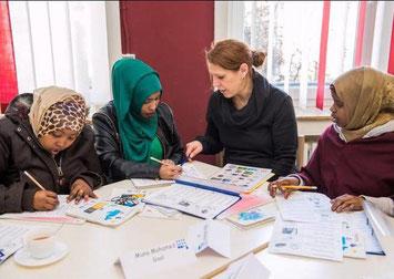 Deutschunterricht für Flüchtlinge. // Foto: Gießener Anzeiger