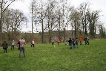 Ein Höhepunkt des Wochenendes: Wikingerschach-Schlacht! // Foto: Scholz