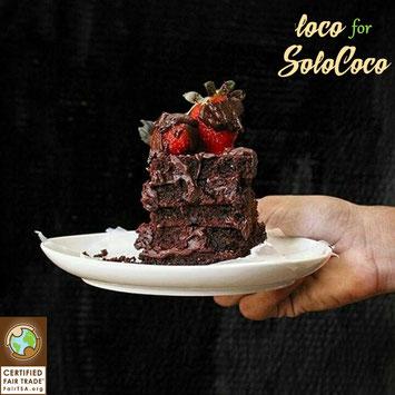 Rezept für SoloCoco Brownie mit Schokoladencreme