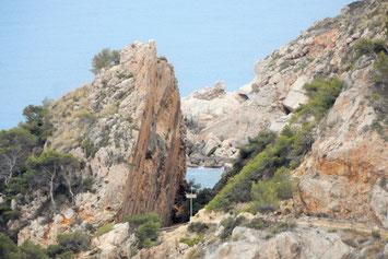 Felsabbruch Spanien Steilküste Wanderweg