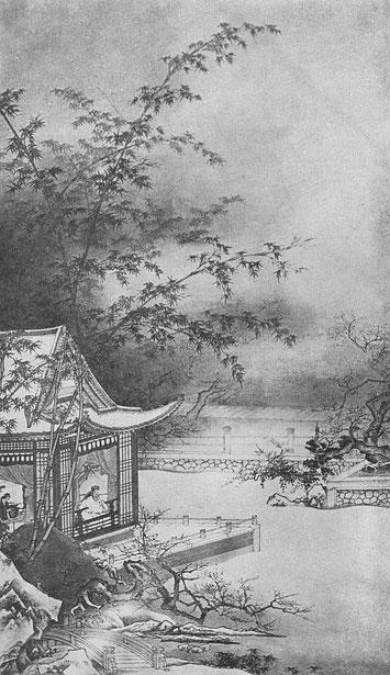 Villa en hiver sous les bambous. Ernest Francisco FENELLOSA (1853-1908) : L'art en Chine et au Japon.