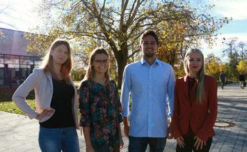 Angeline Vogel, Vanessa Grodon, Michael Wenning und Nicole Reddig