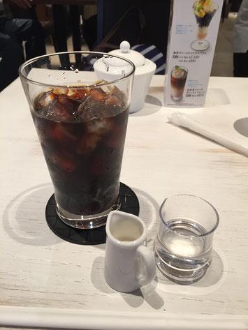 行く前に飲んだ、UCCカフェプラザコンフォートの水出しコーヒー。