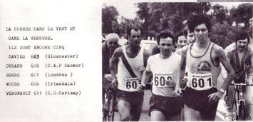Les Davies M40 marathon club record