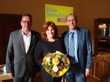 v.l.: Christof Lautwein (AK), Sandra Weeser, Alexander Buda (NR)