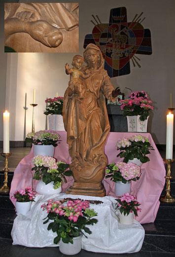 Madonna in der Sermer Herz-Jesu-Kirche