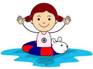 Schwimmerin mit TT-Logo