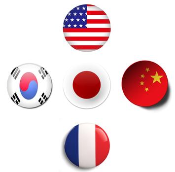 日本語、英語、中国語、韓国語、フランス語、ロシア語