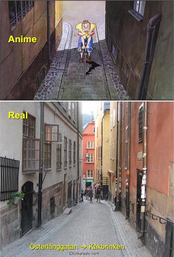 """魔女の宅急便、ストックホルム旧市街ガムラスタン Gamla Stan, Stockholm, Sweden on """"Kiki's Delivery Service"""""""