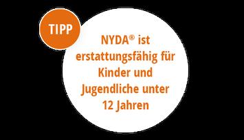 Bei Vorlage eines ärztlichen Rezepts können die Kosten für Nyda und den Nyda Läuse- und Nissenkamm für Kinder unter 12 Jahre von den Krankenkassen erstattet werden.