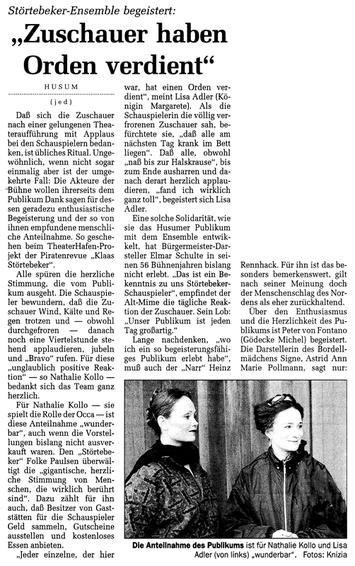 Husumer Nachrichten, 9.7.98, Teil 1