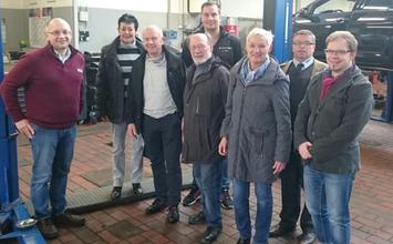 v.l.n.r. Uwe Hohlen(S+K), Christine Will, Holger Barkowsky, Wolfard Moser, Christian Rother(S+K), Gesche Marxfeld(Ratsfrau), Frank Betka(S+K), Sebastian Seidel(Ratsherr)